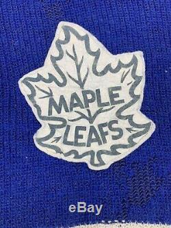 Toronto Maple Leafs Wool Hockey Jersey Sweater Vtg Turtleneck Distressed NHL