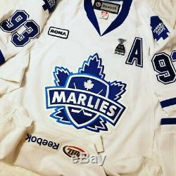 Toronto Marlies 2012 Calder Cup AHL Authentic Game Worn Jersey Maple Leafs COA