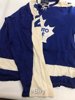 Vintage Borjie Salming Toronto Maple Leafs Doug Laurie Sport NHL Jersey Maska