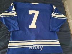 Vintage DURENE Toronto Maple Leafs authentic Tim Horton Jersey sz 52 RARE blue