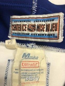 Vintage Doug Gilmour Toronto Maple Leafs CCM Maska Authentic Jersey Size 54