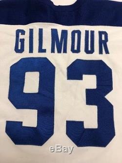 Vintage Doug Gilmour Toronto Maple Leafs NHL CCM Maska Authentic Jersey Size 54