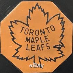 Vintage NHL Rare Toronto Maple Leafs Art Ross Tyer Converse Game Puck 1964-67