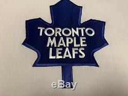 Vintage Toronto Maple Leafs Belfour Jersey Sweater Shirt Ccm White L Large Nhl