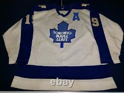 Vintage Toronto Maple Leafs Game Used Worn Jersey Tom Fergus 1986-87