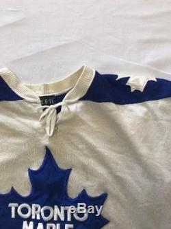 Vtg Toronto Maple Leafs Tim Horton Doug Laurie By Maska NHL Jersey Sz M Durene