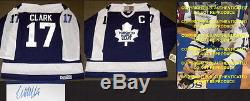 WENDEL CLARK SIGNED AUTOGRAPH TORONTO MAPLE LEAFS VNTGE CCM JERSEY WithPROOF, COA