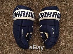 Warrior Alpha QX Pro Hockey Gloves Toronto Maple Leafs Non Pro Stock 14