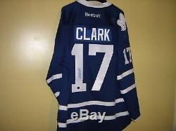 Wendel Clark Auto. Toronto Maple Leafs Reebok Official Licensed Premier Jersey