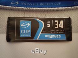 ZSC Lions Auston Matthews Game Issued Jersey Unterschrift Toronto Maple Leafs