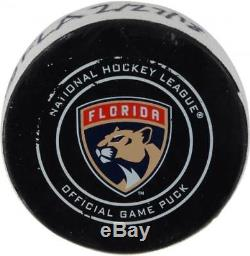 Zach Hyman Toronto Maple Leafs Game-Used Goal Puck from 2/27/18 vs. Panthers